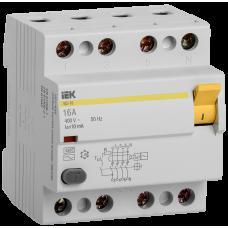 Выключатель дифференциальный  ВД1-63 (УЗО) 4Р 63А 30мА ИЭК (Арт: MDV10-4-063-030)
