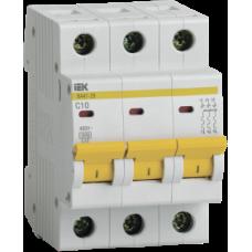 Автоматические выключатели ВА 47-29 3Р 10 А  х-ка D