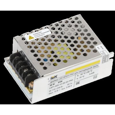 Драйвер LED ИПСН-PRO 30Вт 12 В блок - клеммы  IP20 IEK