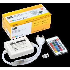 Контроллер с ПДУ ИК RGB 3 канала 220В 3А 500Вт IEK