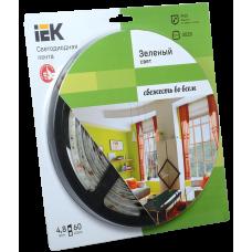 Лента LED 5м  блистер LSR-3528G60-4.8-IP20-12V зеленый цвет IEK-eco
