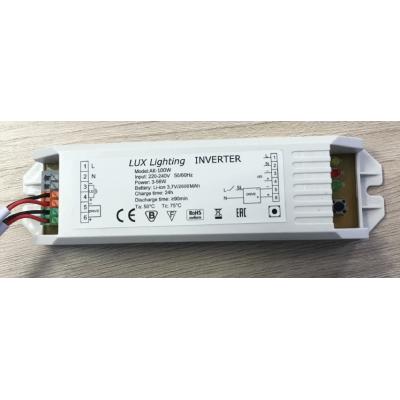Блок аварийного питания для светодиодных светильников АК-100 мощностью 3-100Вт со встроенной батареей