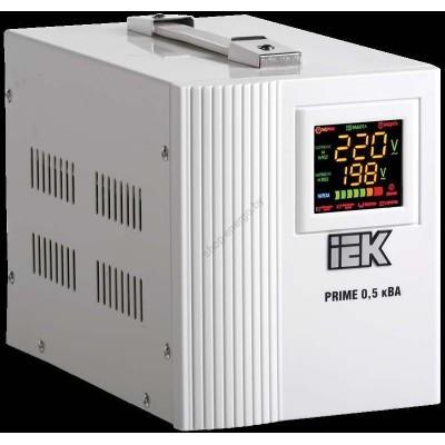 Стабилизатор напряжения переносной серии Prime 0,5 кВА IEK (Арт: IVS31-1-00500)