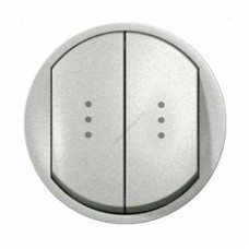 Лицевая панель для выключателя двойного с индикацией