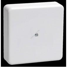 Коробка КМ41212-01 распаячная для о/п 75*75*20мм белая ( с контактной группой) (Арт: UKO10-075-075-020-K01)