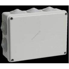 Коробка КМ41244 распаячная для о/п 190х140х70 мм IP55 (RAL7035, 10 гермовводов) (Арт: UKO11-190-140-070-K41-55)