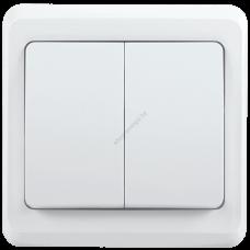 ВС10-2-0-ВБ Выключатель 2 кл 10А ВЕГА (белый) IEK (Арт: EVV20-K01-10-DM)