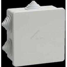 Коробка КМ41235   распаячная для о/п 85*85*40мм IP44 (RAL7035,6 гермовводов) (Арт: UKO11-085-085-040-K41-44)