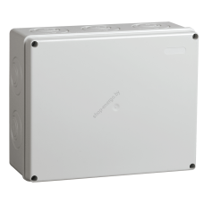 Коробка КМ41271 распаячная для о/п 240х195х90 мм IP44 (RAL7035, кабельные вводы 5 шт.) (Арт: UKO10-240-195-090-K41-44)