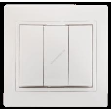 ВС10-3-0-КБ Выключатель 3кл 10А КВАРТА (белый) (Арт: EVK30-K01-10-DM)