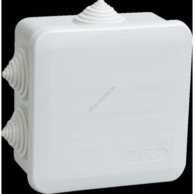Коробка КМ41255 распаячная для о/п 100х100х50 мм IP44 (RAL7035, 6 гермовводов, защелкивающ (Арт: UKOZ11-100-100-050-K41-44)
