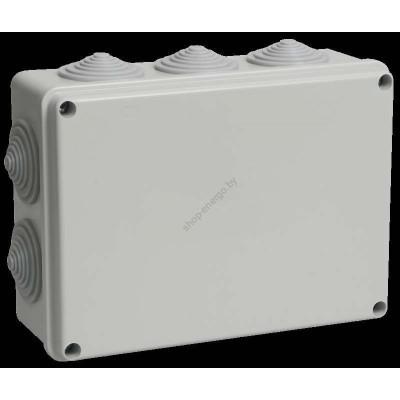 Коробка КМ41243 распаячная для о/п 190х140х70 мм IP44 (RAL7035, 10 гермовводов) (Арт: UKO11-190-140-070-K41-44)