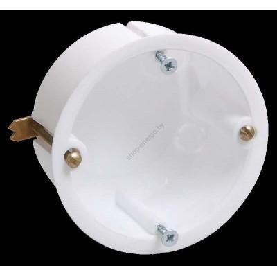 Коробка КМ40021 установочная d65*40мм для полых стен ( с саморезами, металлические лапки) (Арт: UKG10-065-040-000-M)