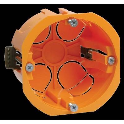 Коробка КМ40022 установочная d65*46мм для полых стен ( с саморезами, пластиковые лапки) (Арт: UKG10-065-040-000-P)
