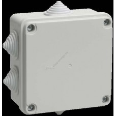 Коробка КМ41234   распаячная для о/п 100*100*50мм IP55 (RAL7035,6 гермовводов) (Арт: UKO11-100-100-050-K41-55)