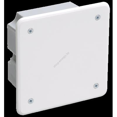 Коробка КМ41021 распаячная 92х92x45мм для полых стен (с саморезами, метал. лапки, с крышко (Арт: UKG11-092-092-040-M)