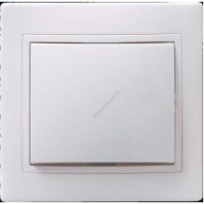 ВСп10-1-0-КБ Выключатель 1кл проход. 10А Кварта (белый) (Арт: EVK12-K01-10-DM)