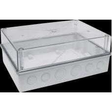 Корпус (коробка) пластиковый навесной КМПн 5/16 с прозрачной крышкой пустой 303х213х125  I (Арт: MKP75-N-16-55-10)