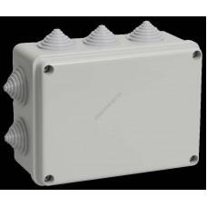 Коробка КМ41241 распаячная для о/п 150х110х70 мм IP44 (RAL7035, 10 гермовводов) (Арт: UKO10-150-110-070-K41-44)