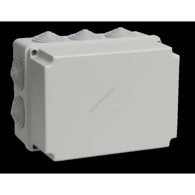 Коробка КМ41246   распаячная для о/п 190*140*120мм IP55 (RAL7035, 10 гермовводов) (Арт: UKO10-190-140-120-K41-55)