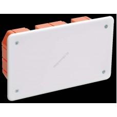 Коробка КМ41006 распаячная для твердых стен 172x96x45 (с саморезами, с крышкой) (Арт: UKT11-172-096-045)