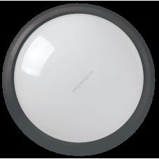Светильник светодиодный ДПО 3031 12Вт 4500K IP54 круг пластик черный IEK (Арт: LDPO0-3031-12-4500-K01)