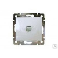 Выключатель 1-кл. с подсветкой (зеленая)