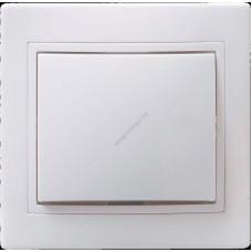 ВСк10-1-0-КБ Выключатель 1 кл кноп. 10А Кварта (белый) (Арт: EVK13-K01-10-DM)