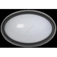 Светильник светодиодный ДПО 3021 8Вт 4500K IP54 овал пластик черный IEK (Арт: LDPO0-3021-8-4500-K01)
