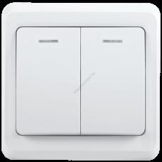 ВС10-2-1-ВБ Выключатель 2кл 10А с инд. ВЕГА (белый) IEK (Арт: EVV21-K01-10-DM)