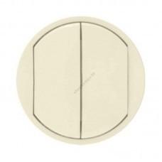 Лицевая панель для двойного выключателя (титан)