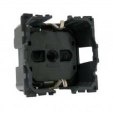 Механизм розетки сил. 1-м 2К+З на винтах 16А 250В защ. шторки