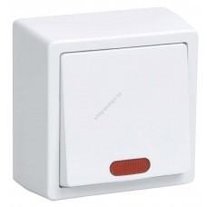 ВС20-1-1-ББ Выключатель одноклавишный  со свет.индикатором для открытой установки (Арт: EVB11-K01-10-DC)