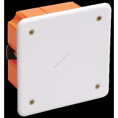 Коробка КМ41022 распаячная 92*92*45мм для полых стен( с саморезами,пластиковые лапки, с кр (Арт: UKG11-092-092-045-P)