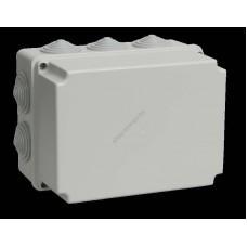 Коробка КМ41245 распаячная для о/п 190х140х120 мм IP44 (RAL7035, 10 гермовводов) (Арт: UKO10-190-140-120-K41-44)