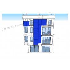 Фасад здания из солнечных модулей