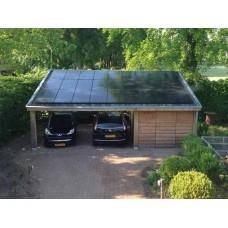 Навес-зарядка для электромобилей из солнечных модулей с зарядными устройствами