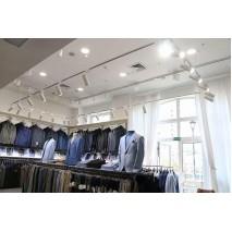 Проект освещения в магазине мужской одежды - важность высокой цветопередачи!