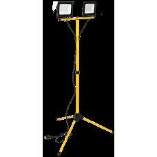 Прожектор LED СДО 06-2x50Ш шт.атив 6500К IP65 черный IEK