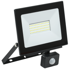 Прожектор СДО 06-50Д светодиодный черный с ДД IP54 6500K IEK