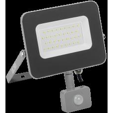 Прожектор СДО 07-30Д светодиодный серый с ДД IP54 IEK