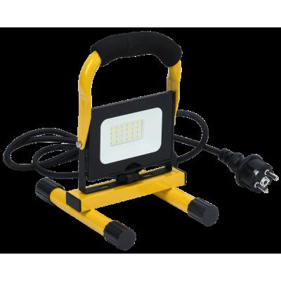 Прожектор LED СДО 06-20П переносной 6500К IP65 черный IEK