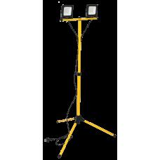 Прожектор LED СДО 06-2х30Ш шт.атив 6500К IP65 черный IEK